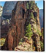 Angels Landing In Zion Canvas Print by Pierre Leclerc Photography