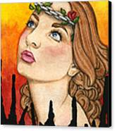 Anima Sola Canvas Print by Nora Blansett