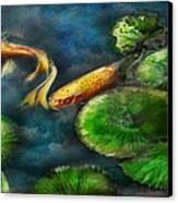 Animal - Fish - The Shy Fish  Canvas Print by Mike Savad
