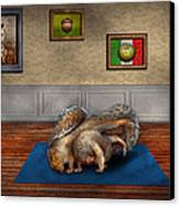 Animal - Squirrel - And Stretch Two Three Four Canvas Print by Mike Savad