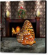 Animal - The Butterfly Canvas Print by Mike Savad