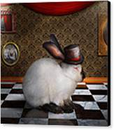 Animal - The Rabbit Canvas Print by Mike Savad