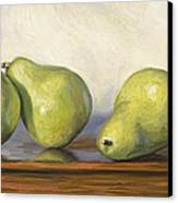 Anjou Pears Canvas Print by Lucie Bilodeau
