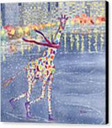 Annabelle On Ice Canvas Print by Rhonda Leonard
