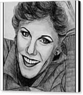 Anne Murray In 1983 Canvas Print by J McCombie