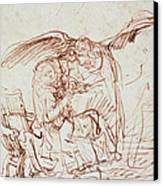Annunciation  Canvas Print by Rembrandt Harmenszoon van Rijn