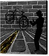Another Bike On The Wall Canvas Print by Barbara St Jean
