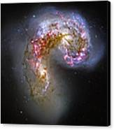Antennae Galaxies Collide 1 Canvas Print by The  Vault - Jennifer Rondinelli Reilly
