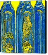 Antibes Blue Bottles Canvas Print by Ben and Raisa Gertsberg
