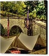 Antietam - 8th Connecticut Volunteer Infantry-a1 Encampment Near The Foot Of Burnsides Bridge Canvas Print by Michael Mazaika