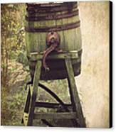 Antique Butter Churn Canvas Print by Linsey Williams