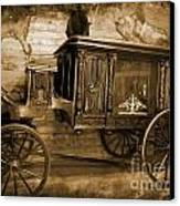 Antique Hearse As Tintype Canvas Print by Crystal Loppie