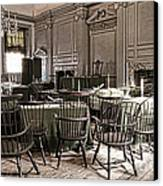 Antique Independence Hall Canvas Print by Olivier Le Queinec