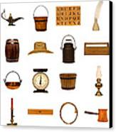 Antique Objects Collection Canvas Print by Olivier Le Queinec