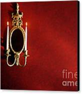 Antique Wall Sconce Canvas Print by Olivier Le Queinec