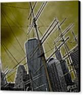 Apocalypse At Nyc Canvas Print by Coqle Aragrev