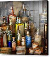 Apothecary - For All Your Aches And Pains  Canvas Print by Mike Savad