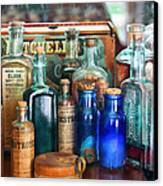 Apothecary - Remedies For The Fits Canvas Print by Mike Savad
