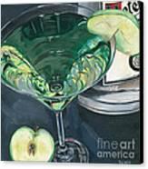 Apple Martini Canvas Print by Debbie DeWitt