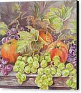 Apples And Grapes Canvas Print by Summer Celeste