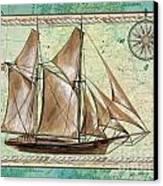 Aqua Maritime 2 Canvas Print by Debbie DeWitt