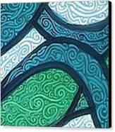 Aqua Motion Canvas Print by Genevieve Esson