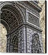 Arc De Triomphe - French Map Of Paris Canvas Print by Lee Dos Santos