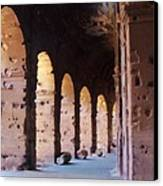 Arches Of The Roman Coliseum Canvas Print by Jan Moore