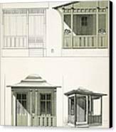 Architecture In Wood, C.1900 Canvas Print by Richard Dorschfeldt