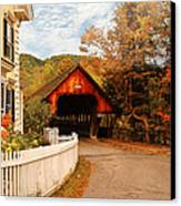 Architecture - Woodstock Vt - Entering Woodstock Canvas Print by Mike Savad