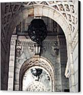 Archways At The Library Canvas Print by John Rizzuto
