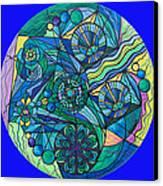 Arcturian Immunity Grid Canvas Print by Teal Eye  Print Store