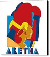 Aretha Franklin No.05 Canvas Print by Caio Caldas