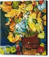 Arizona Sunflowers Canvas Print by Sherry Harradence