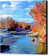Arkansas River In Salida Co Canvas Print by Charles Muhle