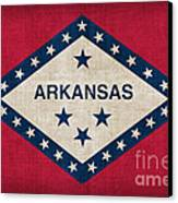 Arkansas State Flag Canvas Print by Pixel Chimp