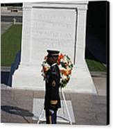 Arlington National Cemetery - Tomb Of The Unknown Soldier - 121212 Canvas Print by DC Photographer