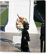 Arlington National Cemetery - Tomb Of The Unknown Soldier - 121213 Canvas Print by DC Photographer