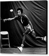 Arthur Ashe Returning Tennis Ball Canvas Print by Retro Images Archive