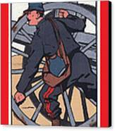 Artilleur 1915 With Fgb Border Canvas Print by A Morddel
