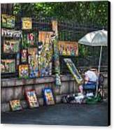 Artist At Work Canvas Print by Brenda Bryant