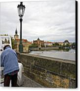 Artist On The Charles Bridge - Prague Canvas Print by Madeline Ellis