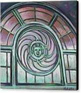 Asbury Park Carousel Window Canvas Print by Melinda Saminski