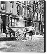 Ash Cart New York City 1896 Canvas Print by Unknown
