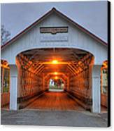 Ashuelot Covered Bridge Canvas Print by Joann Vitali