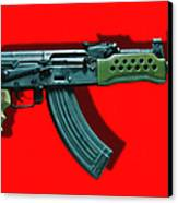 Assault Rifle Pop Art - 20130120 - V1 Canvas Print by Wingsdomain Art and Photography