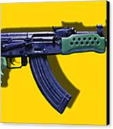 Assault Rifle Pop Art - 20130120 - V2 Canvas Print by Wingsdomain Art and Photography
