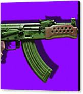 Assault Rifle Pop Art - 20130120 - V4 Canvas Print by Wingsdomain Art and Photography