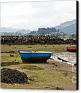 Asturias Seascape With Boats Canvas Print by Frank Tschakert
