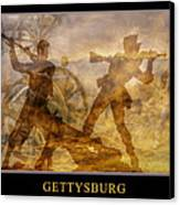 At A Place Called Gettysburg Poster Canvas Print by Randy Steele